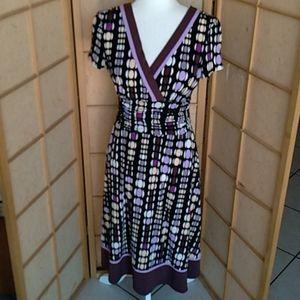 Sandra Darren polka dot dress sz 8